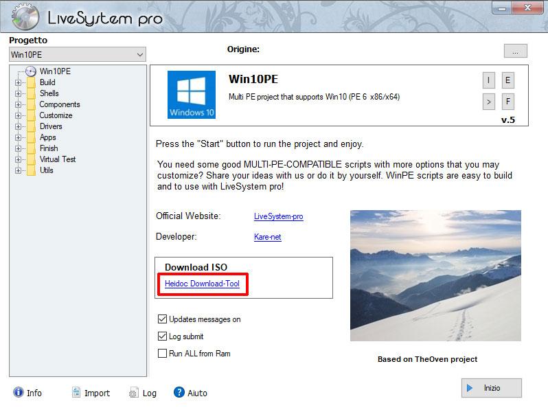 Heidoc download tool per livesystem pro